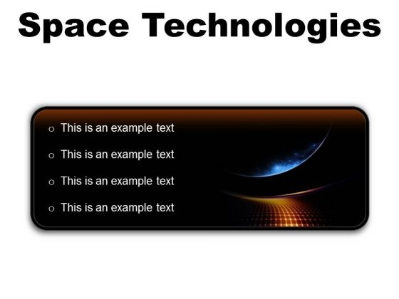 Space Technologies Abstract PowerPoint Presentation Slides R