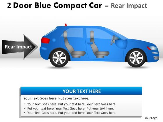 Speed Sports 2 Door Blue Car Side PowerPoint Slides And Ppt Diagram Templates