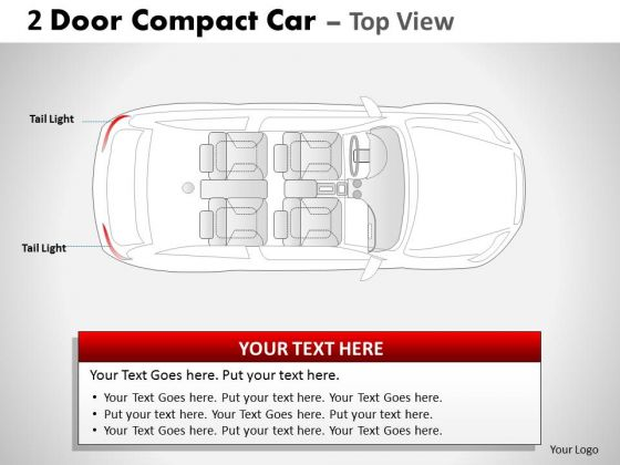 Speeding 2 Door Gray Car Top PowerPoint Slides And Ppt Diagram Templates