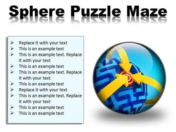 Sphere Maze Puzzle Business PowerPoint Presentation Slides C