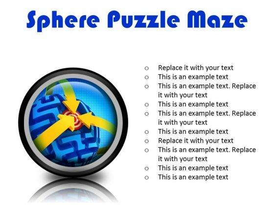 Sphere Maze Puzzle Business PowerPoint Presentation Slides Cc