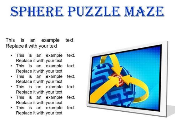 Sphere Maze Puzzle Business PowerPoint Presentation Slides F