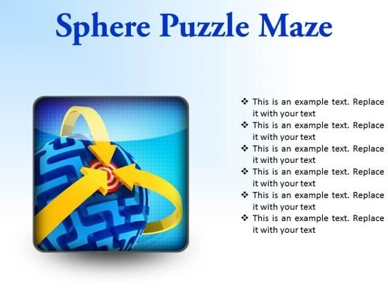 Sphere Maze Puzzle Business PowerPoint Presentation Slides S
