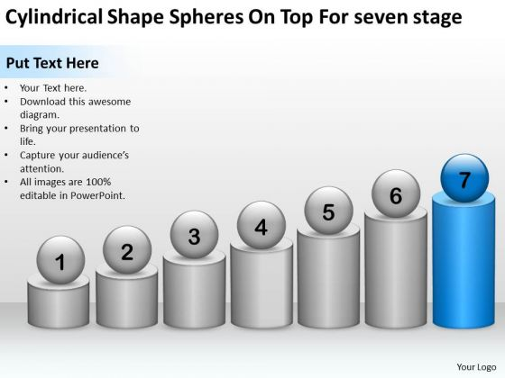 Spheres On Top For Seven Stage Ppt 7 Sample Mission Statements Business Plan PowerPoint Slides