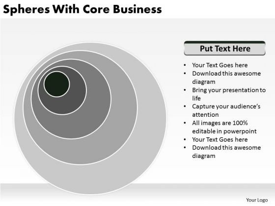 Spheres With Core Business Plan Development PowerPoint Slides