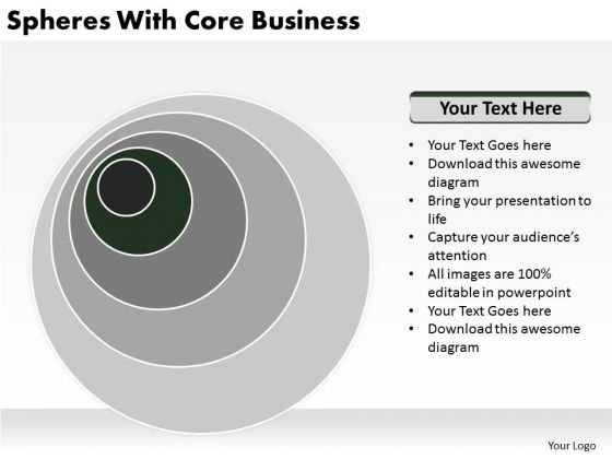 Spheres With Core Business Ppt Plan PowerPoint Templates