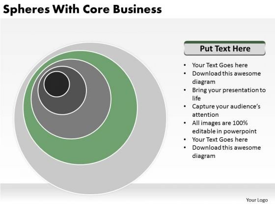Spheres With Core Business Ppt Plans PowerPoint Templates
