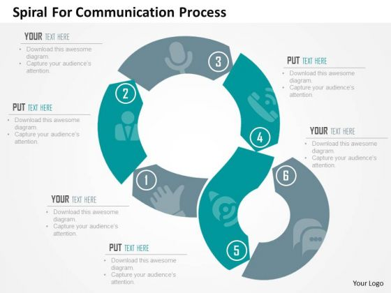 Spiral For Communication Process Presentation Template Powerpoint