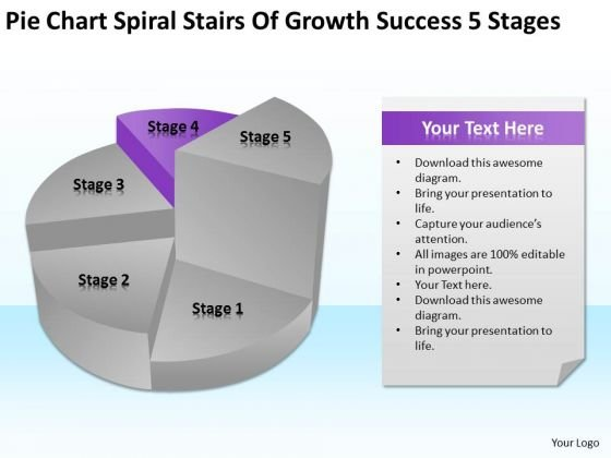 Spiral Stairs Of Growth Success 5 Stages Ppt Business Plans PowerPoint Templates