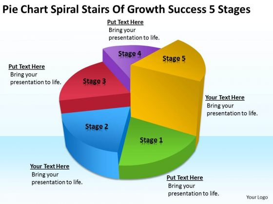 Spiral Stairs Of Growth Success 5 Stages Small Business Plans For Dummies PowerPoint Templates