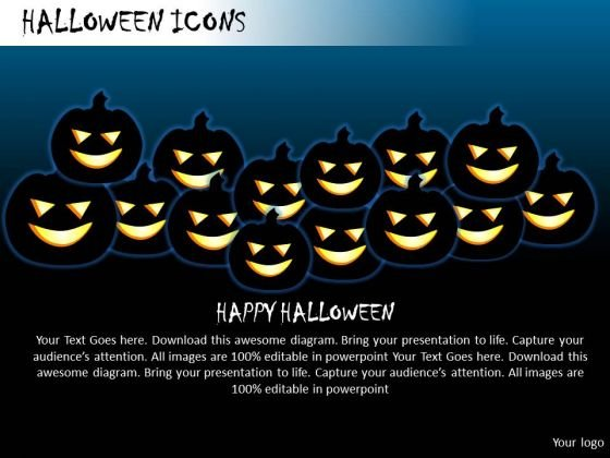 Spooky Halloween Icons PowerPoint Slides And Ppt Diagram Templates