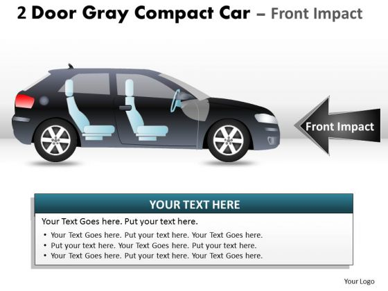 Sport 2 Door Gray Car Side PowerPoint Slides And Ppt Diagram Templates