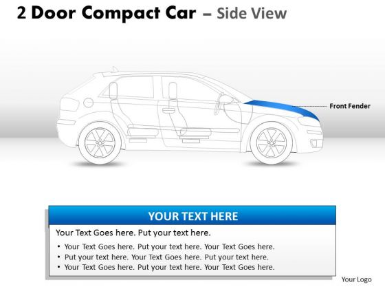 Sport Tires 2 Door Blue Car Side PowerPoint Slides And Ppt Diagram Templates