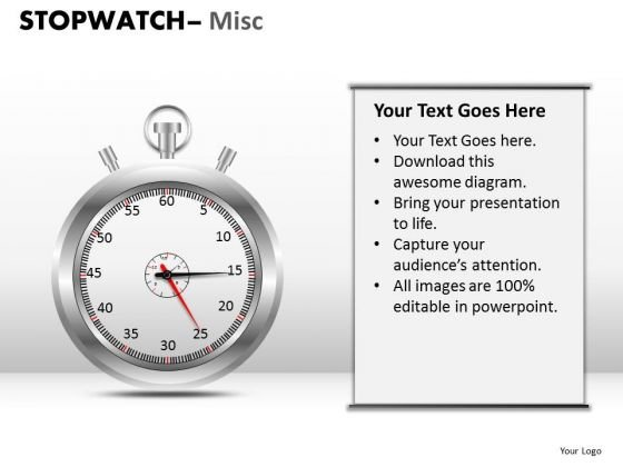 Sports Stopwatch Misc PowerPoint Slides And Ppt Diagram Templates