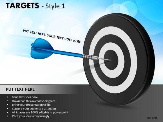 Sports Targets 1 PowerPoint Slides And Ppt Diagram Templates