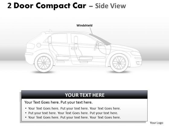 Sportscar 2 Door Blue Car Side PowerPoint Slides And Ppt Diagram Templates