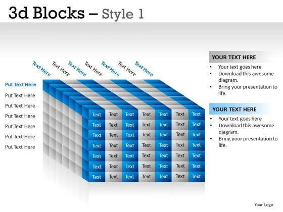 Square 3d Blocks 1 PowerPoint Slides And Ppt Diagram Templates