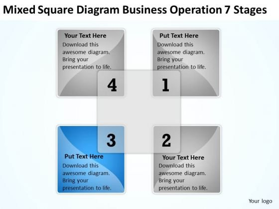 Square Diagram Business Operation 7 Stages Ppt Samples Of Plans PowerPoint Templates