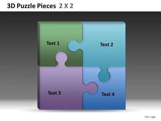 Square Puzzle PowerPoint Temlates