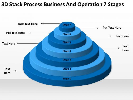 Stack Process Business And Operation 7 Stages Ppt Plan Format Outline PowerPoint Slides