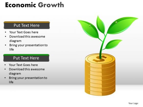 Stacked Coins PowerPoint Templates Growing Money Ppt Slides