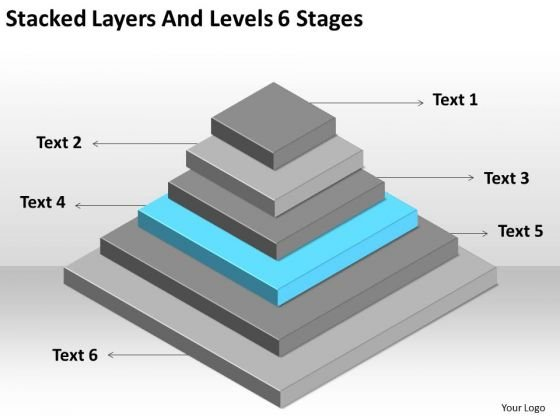 Stacked Layers And Levels 6 Stages Ppt Business Plan PowerPoint Templates