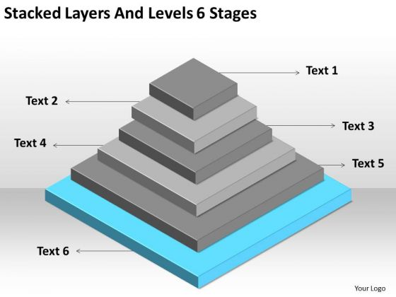 Stacked Layers And Levels 6 Stages Ppt Business Plans Examples Free PowerPoint Templates