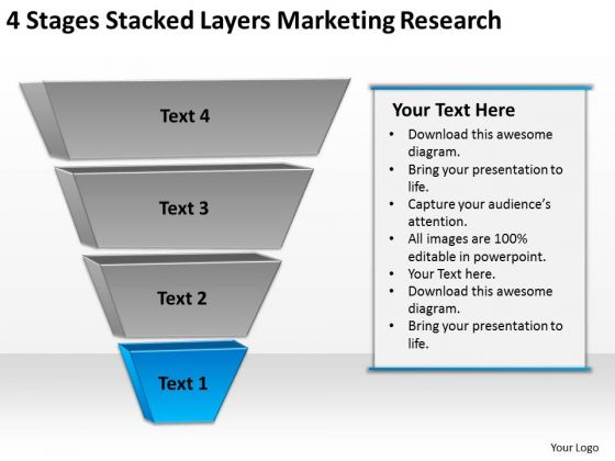 Stacked Layers Marketing Research Creating Business Plan Step By PowerPoint Templates