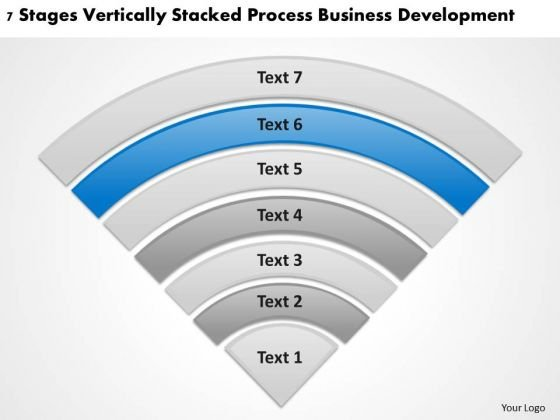 Stacked Process Business Deveopment Sample Plan Outline PowerPoint Slides