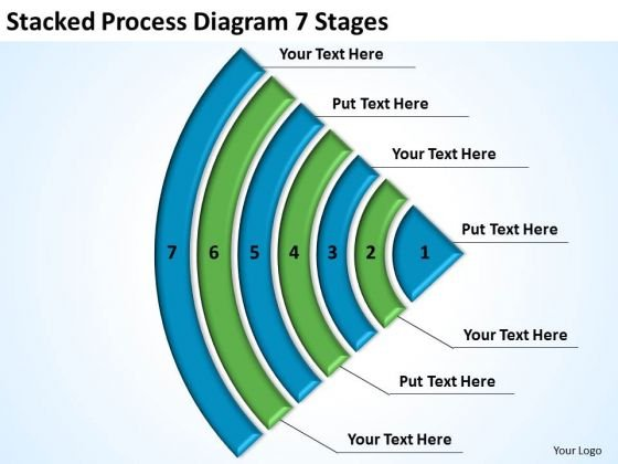 Stacked Process Diagram 7 Stages Business Plan Template Word PowerPoint Templates