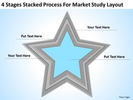 Stacked Process For Market Study Layout Ppt Business Plan Example PowerPoint Slides