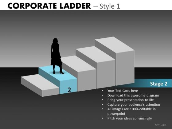 Stage 2 Corporate Steps PowerPoint Templates
