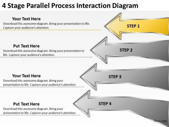 Stage Parallel Process Interaction Diagram How To Present Business Plan PowerPoint Slides