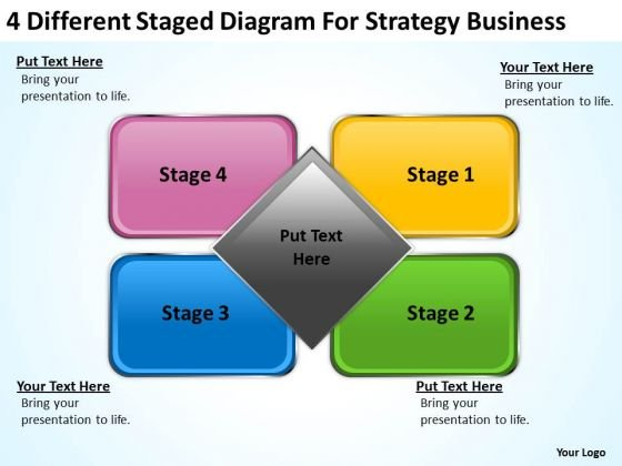 Staged Diagram For Strategy Business Ppt Plan Template PowerPoint Templates