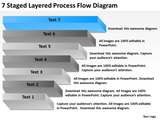 Staged Layered Process Flow Diagram Ppt Writing Business Plan For PowerPoint Slides