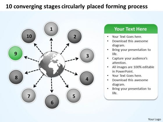 Stages Circularly Placed Forming Process Ppt Flow Arrow Chart PowerPoint Templates