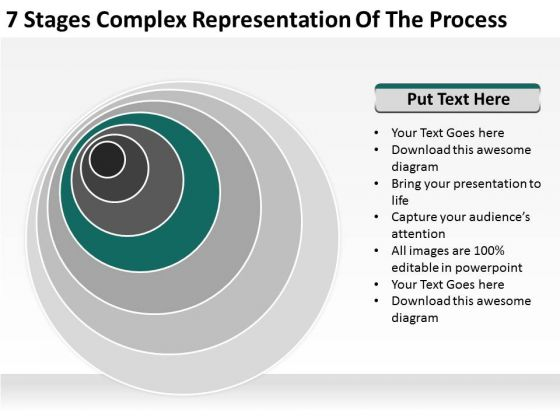 Stages Complex Representation Of The Process Business Plan Template PowerPoint Templates