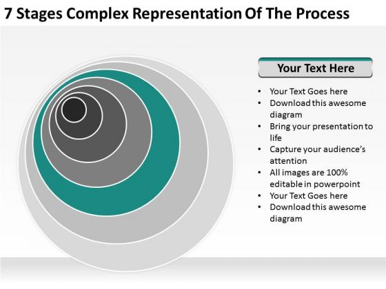 Stages Complex Representation Of The Process Outline Business Plan PowerPoint Templates