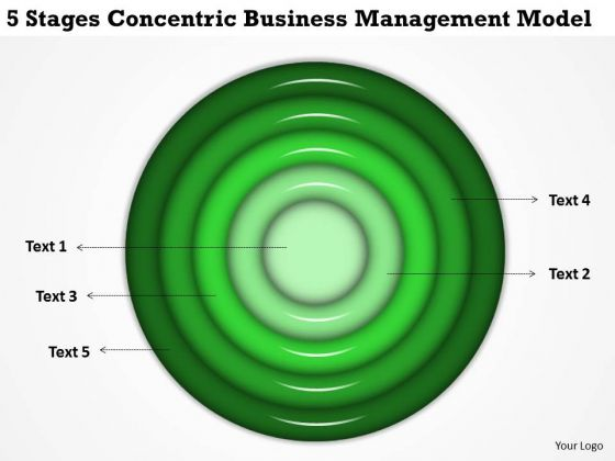 Stages Concentric Business Managment Model Plan PowerPoint Templates
