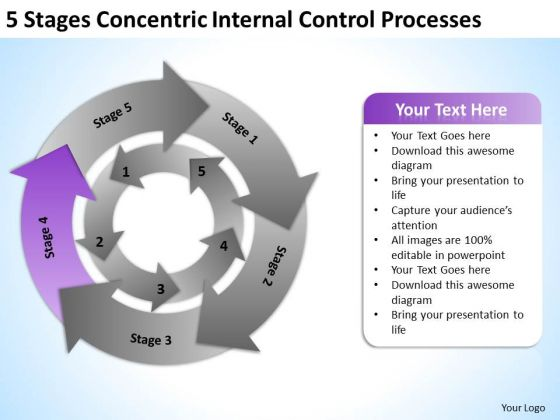 Stages Concentric Internal Control Processes Ppt How Do Make Business Plan PowerPoint Slides