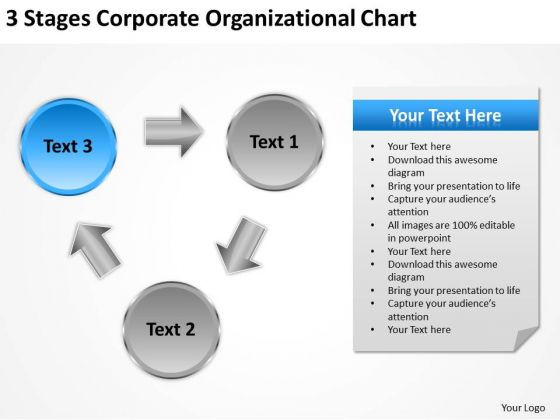 Stages Corporate Organizational Chart Ppt How To Write Business Plan For PowerPoint Slides