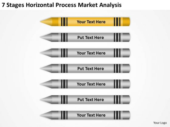 Stages Horizontal Process Market Analysis Ppt Writing Business Plan Template PowerPoint Slides