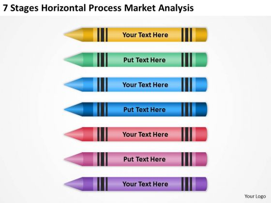 Stages Horizontal Process Market Analysis Real Estate Agent Business Plan PowerPoint Slides