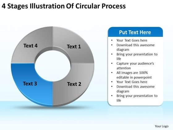 Stages Illustration Of Circular Process Creating Small Business Plan PowerPoint Templates