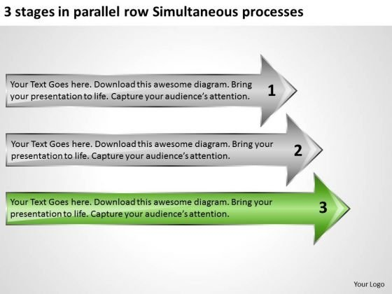 Stages In Parallel Row Simultaneous Processes Ppt Sample Business Plan Template PowerPoint Slides