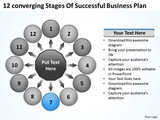 Stages Of Successful Business PowerPoint Theme Plan Circular Flow Process Slides
