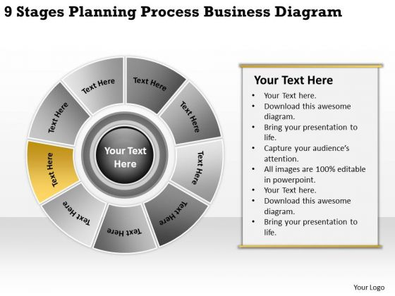 Stages Planning Process Business Diagram Small Template PowerPoint Slides