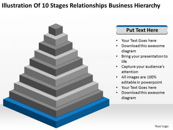 Stages Relationships Business Hierarchy How To Wright Plan PowerPoint Templates