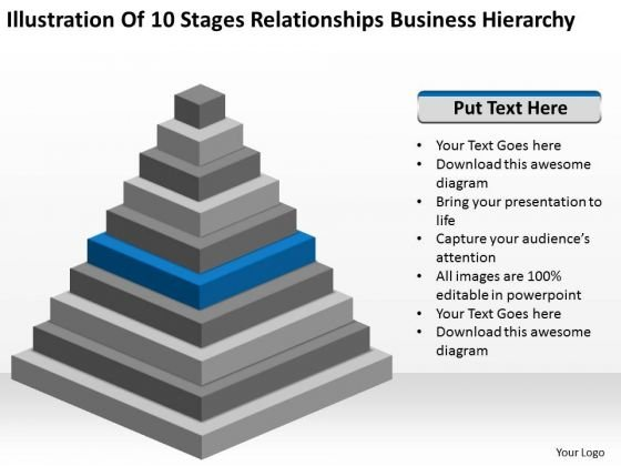 Stages Relationships Business Hierarchy Plan For PowerPoint Templates