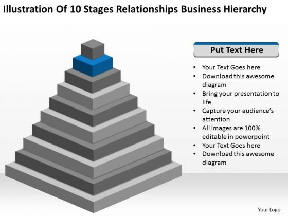 Stages Relationships Business Hierarchy Ppt Putting Together Plan PowerPoint Slides